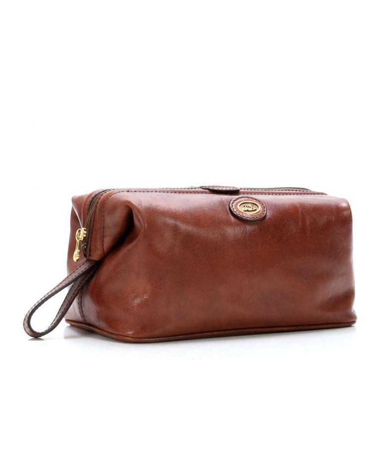 Necessaire in cuoio The Bridge - Buroni Pelletterie 015291f22b73f