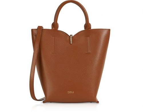Secchiello Furla Ribbon Cognac Small