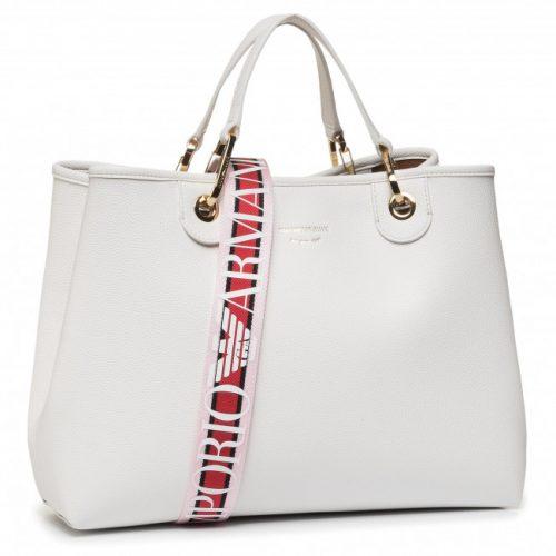 Borsa Shopping Emporio Armani Bianco