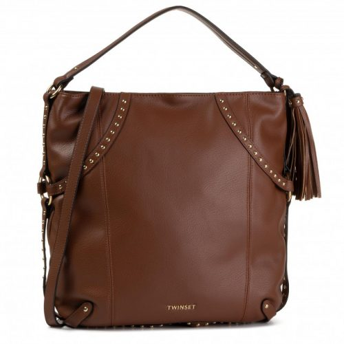 Hobo Bag Twinset Marrone