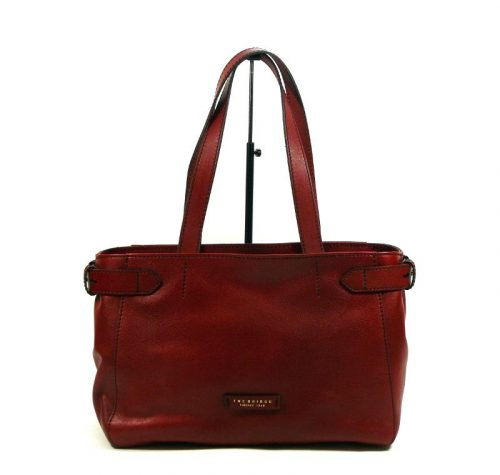 Shopper The Bridge in pelle rossa