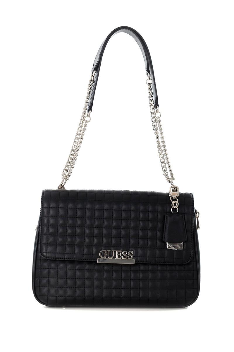 Guess Borsa zaino Matrix backpack ecopelle trapuntata nero donna B21GU138