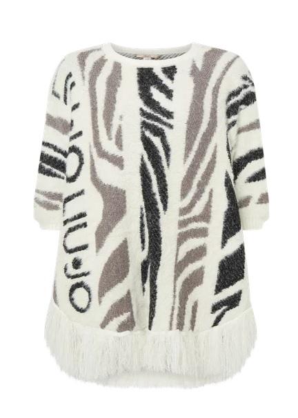 Poncho Liu-Jo Stampa Animalier zebra