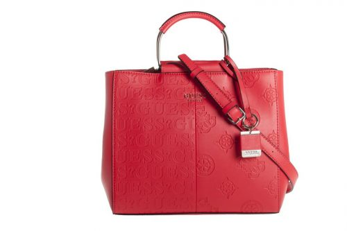 Borsa a mano Guess Kaylin Red