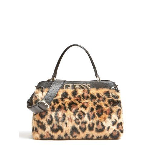 Borsa a mano Guess Gwen Stampa Leopardo