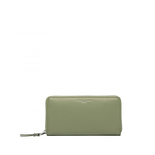 Portafoglio Zip Around Gianni Chiarini Grain Matcha Green
