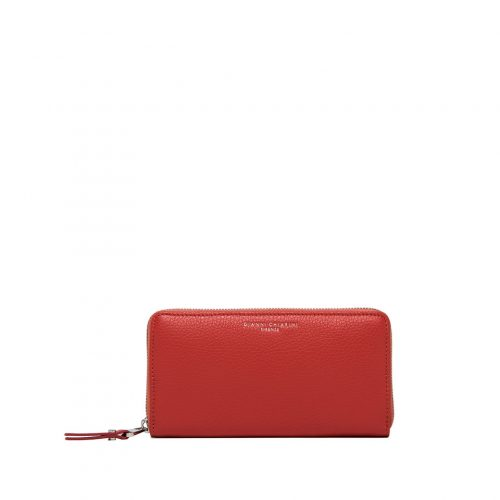 Portafoglio Zip Around Gianni Chiarini Grain Queen Red