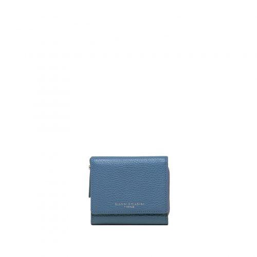 Mini Portafoglio Gianni Chiarini Grain Blu Capri