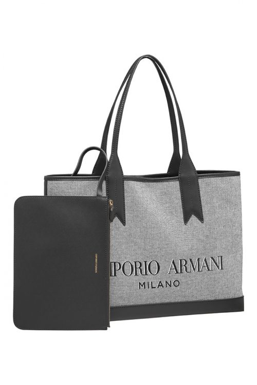 Shopping bag Emporio Armani in Canvas Large
