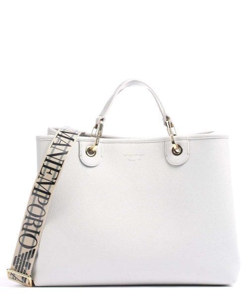 Borsa a mano Emporio Armani Blu White-Lather